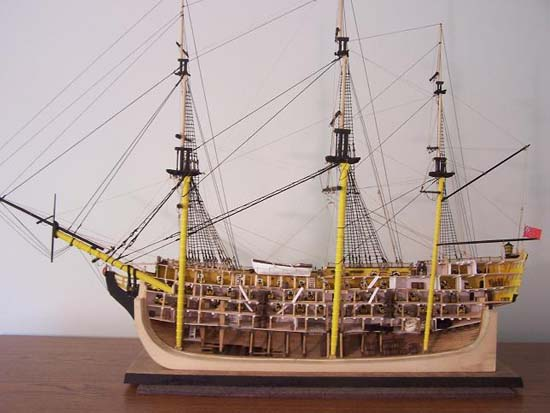 HMS Victory Half Section