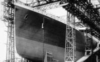 RMS Titanic in Shipyard
