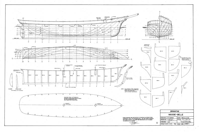 model ship blueprints
