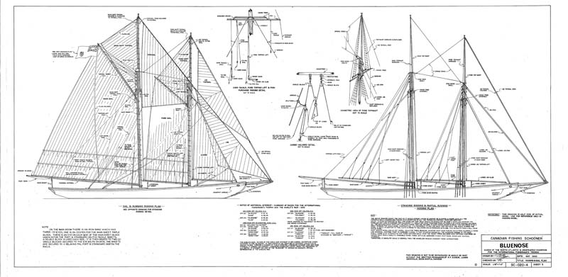 """Bluenose"" deck plan 