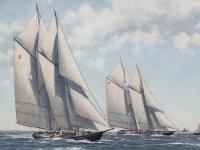 Schooners Henry Ford and Columbia - Source: Mysticseaport Online