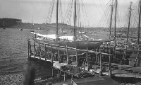 Schooner Bluenose at dock prior to first race 1921 - Source: Nova Scotia Archives Online